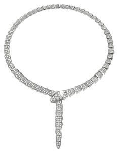 BVLGARI Bvlgari Serpenti 18 kt white gold full pave diamond diamond necklace Ref. 348165 CL856448