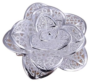 Other NEW 925 STERLING SILVER PLATEDFLOWER RING , ADJUSTABLE SIZE