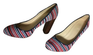 J.Crew red white blue Pumps