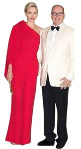 Valentino One Shoulder Tie Neck Dress