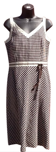 Preload https://item4.tradesy.com/images/ann-taylor-loft-brown-and-tan-knee-length-workoffice-dress-size-10-m-937993-0-0.jpg?width=400&height=650