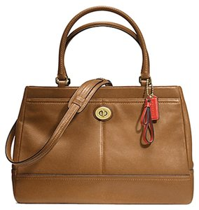 Coach Leather Large Carryall Tote in Brown