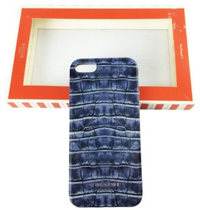 Coach COACH Faux Crocodile Gray Blue iPhone 5 Case