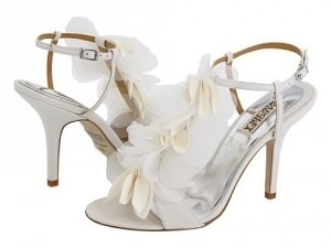 Badgley Mischka White Dreamy Sandals Size US 8.5