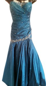 Mori Lee Strapless Mermaid Fitted Full Length Party Prom Dress