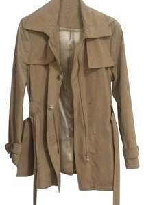 Calvin Klein Satin Gold Hardware Water-resistant Trench Coat