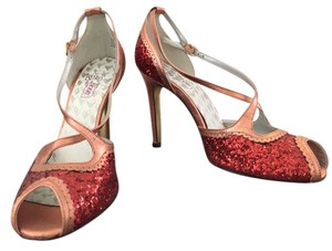 Oh Deer! Glitter Leather Orange/Red Formal