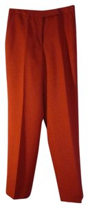 Judith Hart Lined Lined Trouser Pants Dark Coral
