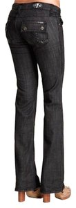 Laguna Beach Jean Company 28l Embellished Boot Cut Pants Black Grey