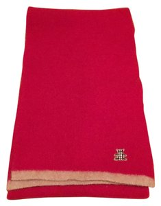 Burberry London Classic Red 100% Lambswool Scarf