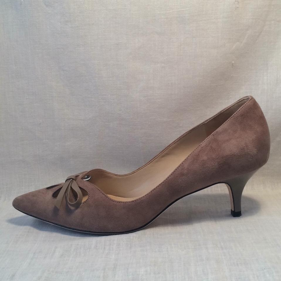 "Joan & David Taupe Suede ""Dagardner"" Pumps Size US 8"