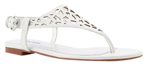 Chico's Slingback Buckle Cut-out White Sandals