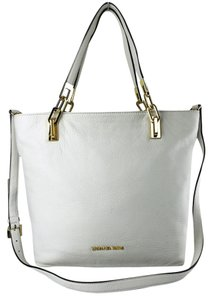 MICHAEL Michael Kors Brooke Leather Tote in Optic White