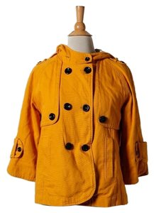 Tulle Hooded Mustard Womens Jean Jacket