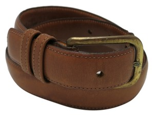 Cole Haan 011114 leather belt cole hann brass buckle