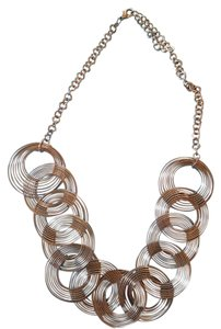 Other Contemporary Silver Circles Necklace