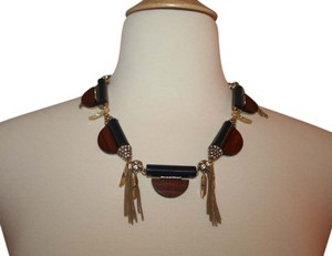 J.Crew J.CREW WOODEN DISK TASSEL NECKLACE