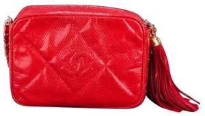 Chanel Vintage Camera Classic Lizard Mini Cross Body Bag