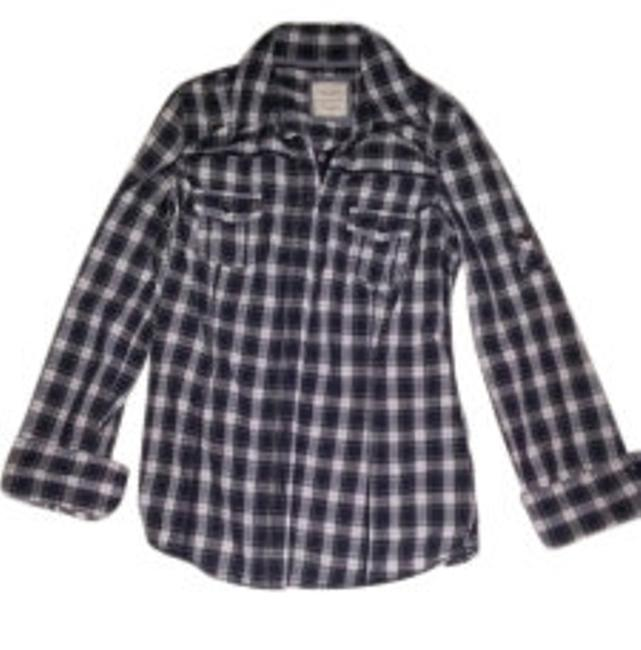 Preload https://item5.tradesy.com/images/old-navy-blue-plaid-button-down-top-size-6-s-9384-0-0.jpg?width=400&height=650