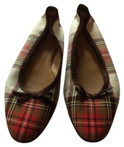 J.Crew Multi- Red, White, Brown Flats