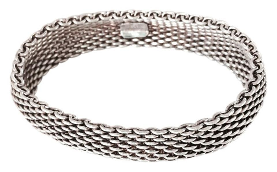 7328f17a8 Tiffany & Co. TIFFANY STERLING SILVER 925 SOMERSET MESH BRACELET Image 0 ...