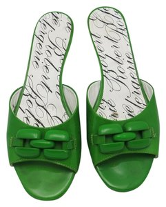 Robert Clergerie Patent Leather kelly green Mules