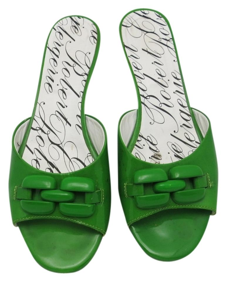 Ladies Robert Clergerie and Kelly Green Mules/Slides Elegant and Clergerie robust packaging 563363