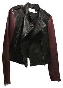Walter by Walter Baker Black, burgundy Leather Jacket