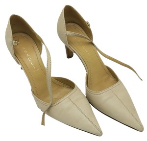 Casadei Heels Italian Leather cream Pumps