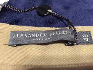 Alexander McQueen Straight Pants Tan