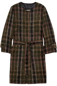 Dolce & Gabbana Plaid Wool Mohair Alpaca Coat