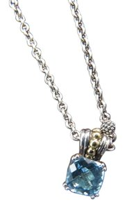 Lagos Lagos Cushion Cut 7mm Blue Topaz Pendant