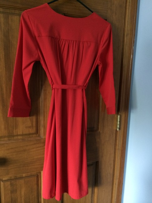 H&M short dress Red Tie Waist Empire Waist Three Quarter on Tradesy
