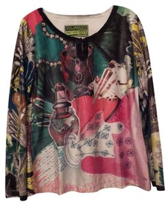 Custo Barcelona Medium New Tunic Custo Knit Top Multi-Color