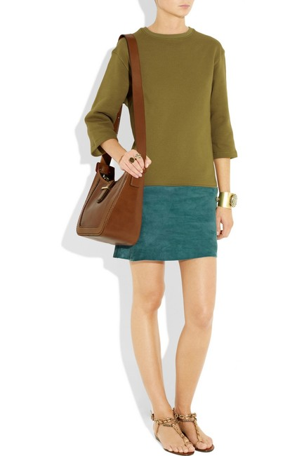 Bally short dress Olive and Teal Detachable Suede on Tradesy