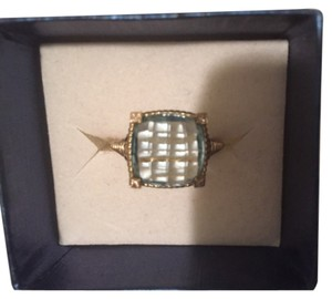 Judith Ripka 14kt gold and Aquamarine ring size 7 paid $950 selling for $475.00