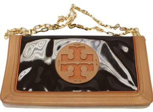 14a442c7d65 Tory Burch Reva Miller Kathy Betty Constance Versace Black and Honey Clutch  - item med img