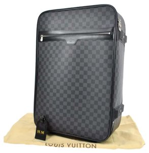 Louis Vuitton Black, Gray Travel Bag