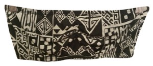 See You Monday Made In The Usa Bandeau Crop Tribal Print Top black and white