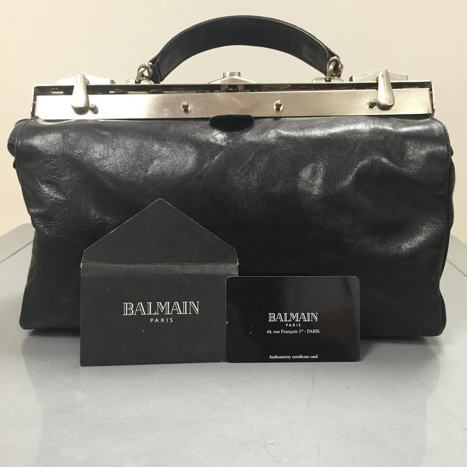 56cb6a201c Balmain Lowered Price Leather with Silver Metal Hardware Shoulder Bag