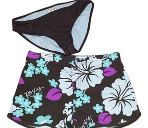Roxy Bikini Board Shorts brown with flowers
