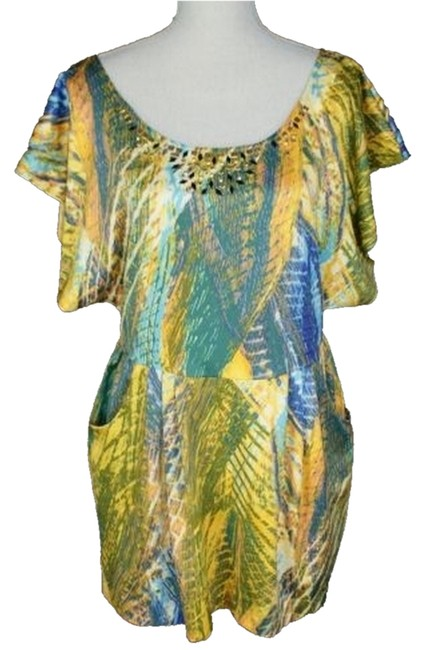 Free People Studded Multicolor Vacation Resort Dress