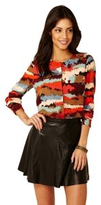Walter Baker Graphic Print Day To Night Work Button Top Plume