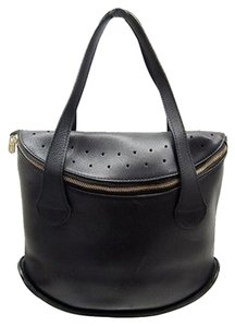 Other Delvaux Pebbled Perforated Satchel in Black