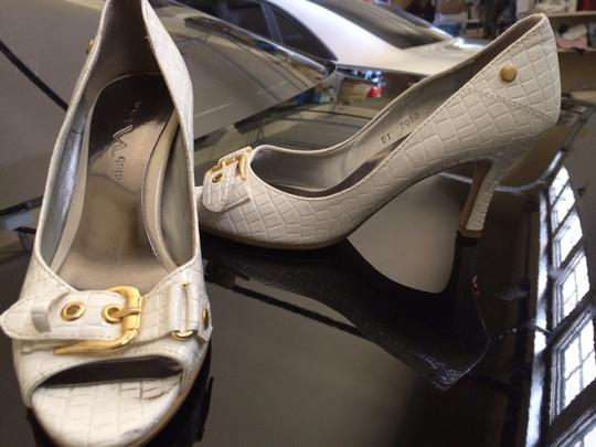 La Mina Tango Boutique White Pumps
