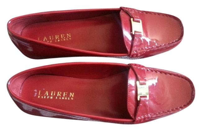Item - Patent Red Leather Leather Loafer Moccasin Flats Size US 10 Regular (M, B)