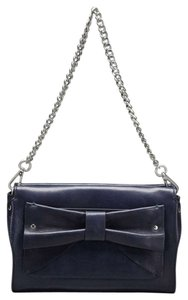Nanette Lepore Clutch Removable Strap Metal Strap Leather Bow Shoulder Bag