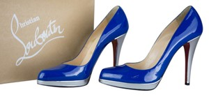 Christian Louboutin Blue/Silver Pumps