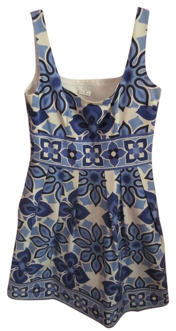 London Times short dress blue and white Fit Flare Summery on Tradesy
