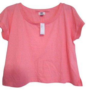 Old Navy Cropped T Shirt Bright Coral
